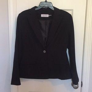 Calvin Klein suit jacket black size 6. Barely worn